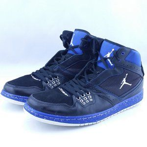 Nike Jordan Blue Black Vintage Flight Sneakers